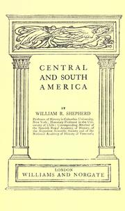 Cover of: Central and South America