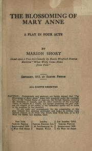 Cover of: The blossoming of Mary Anne