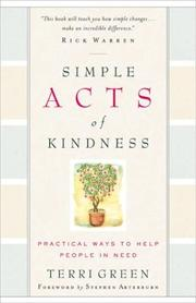 Cover of: Simple Acts of Kindness | Terri Green