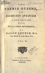 Cover of: The Faerie queene. by Edmund Spenser