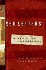 Cover of: Red letters | William J. Petersen