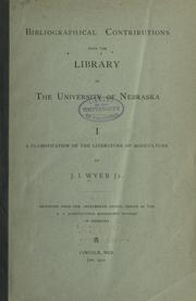 Cover of: A classification of the literature of agriculture