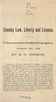 Cover of: Sunday law, liberty and license