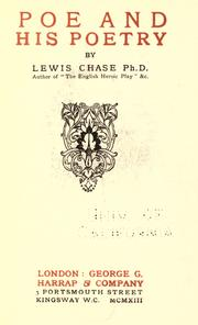 Poe and his poetry by Lewis Nathaniel Chase