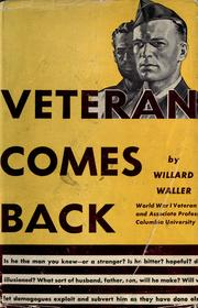 Cover of: The veteran comes back