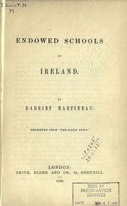 Cover of: Endowed schools of Ireland