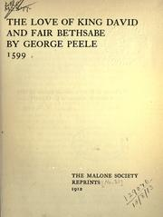 Cover of: The love of King David and fair Bethsabe
