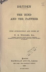 Cover of: The hind and the panther: a poem, in three parts