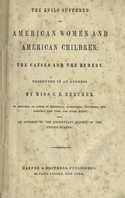 Cover of: The evils suffered by American women and American children