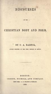 Cover of: Discourses on the Christian body and form