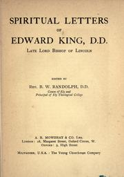 Cover of: Spiritual letters of Edward King