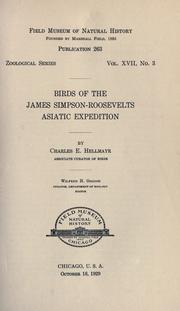 Cover of: Birds of the James Simpson-Roosevelts Asiatic expedition