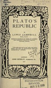 Cover of: Plato's Republic