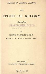 Cover of: The epoch of reform: 1830-1850