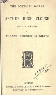 Cover of: Poetical works: With a memoir by Francis Turner Palgrave.