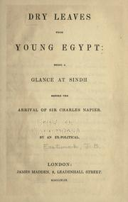 Cover of: Dry leaves from young Egypt ..