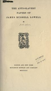 Cover of: Anti-slavery papers