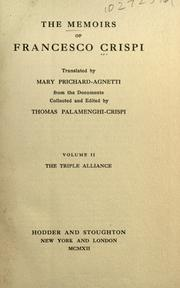 Cover of: The memoirs of Francesco Crispi