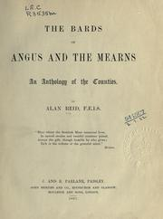 Cover of: The bards of Angus and the Mearns