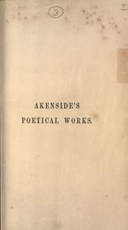 Cover of: Poetical works of Mark Akenside | Mark Akenside