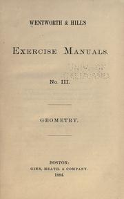 Cover of: Wentworth & Hill's exercise manuals.(
