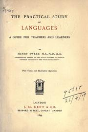 Cover of: The practical study of languages: a guide for teachers and learners.