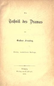 Cover of: Die Technik des Dramas