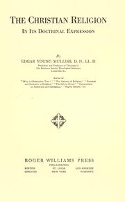 Cover of: The Christian religion in its doctrinal expression