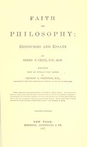Cover of: Faith and philosophy