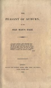 Cover of: The Peasant of Auburn by
