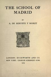 Cover of: The school of Madrid
