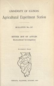 Cover of: Bitter rot of apples