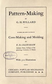 Pattern-making by G. H. Willard