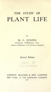 Cover of: The study of plant life