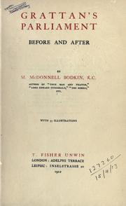 Cover of: Grattan's Parliament, before and after