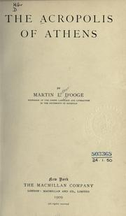 Cover of: The acropolis of Athens | Martin Luther D'Ooge