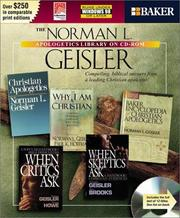 Cover of: The Norman L. Geisler Apologetics Library on CD-ROM