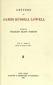 Cover of: Letters of James Russell Lowell