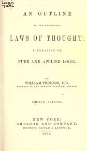 Cover of: An outline of the necessary laws of thought |