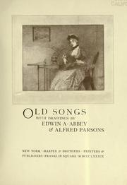 Cover of: Old songs