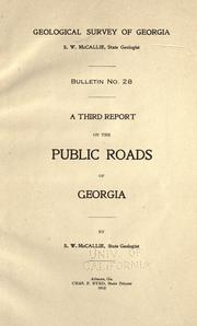 Cover of: A third report on the public roads of Georgia
