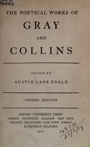 Cover of: The poetical works of Gray and Collins