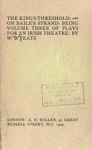 Cover of: The king's threshold