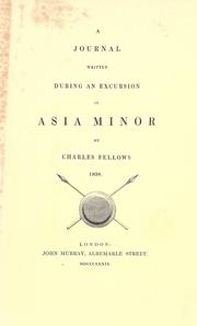 Cover of: A journal written during an excursion in Asia Minor