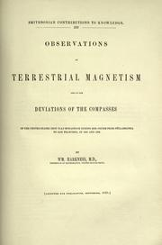 Cover of: Observations on terrestrial magnetism and on the deviations of the compasses of the United States iron clad Monadnock
