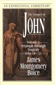 Cover of: The Gospel of John | James Montgomery Boice