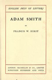 Cover of: Adam Smith