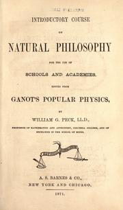 Cover of: Introductory course of natural philosophy for the use of schools and academies