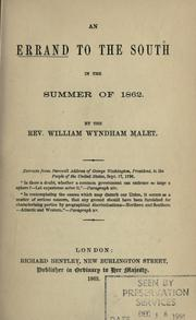 Cover of: An errand to the South in the summer of 1862