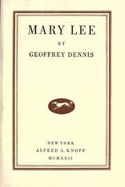 Cover of: Mary Lee